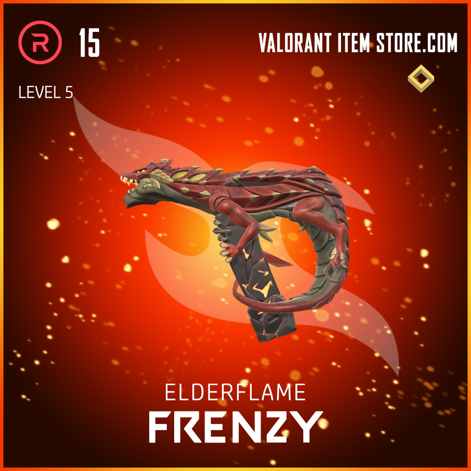 Elderflame Frenzy Level 5 Valorant skin