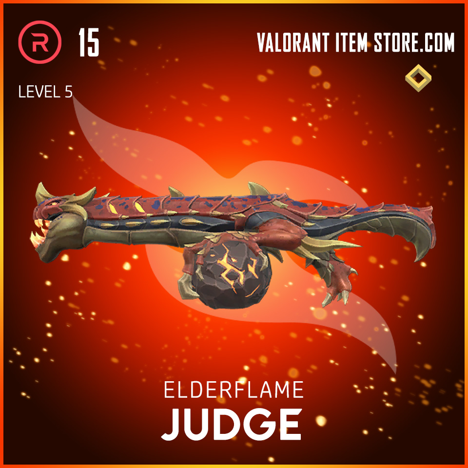 Elderflame Judge Level 5 Valorant skin