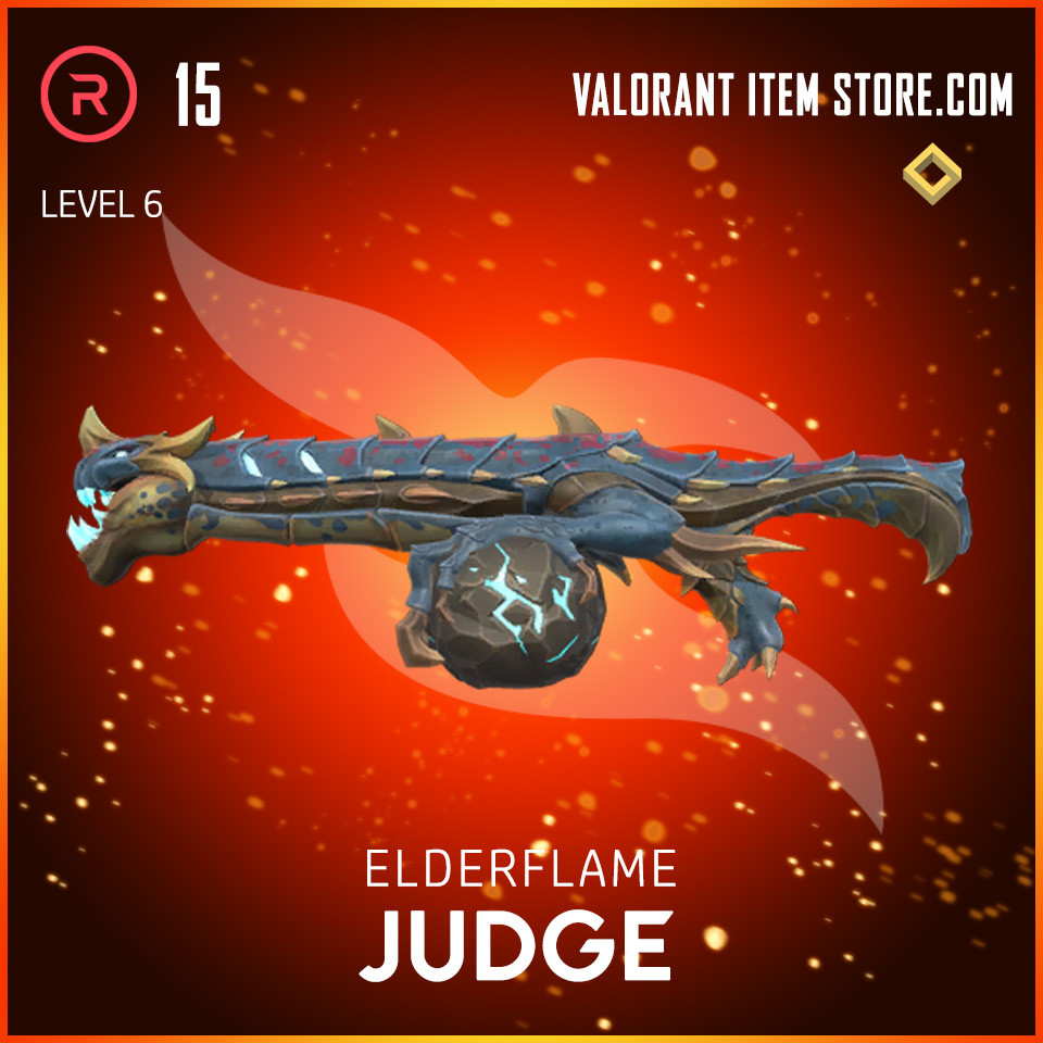 Elderflame Judge Level 6 Valorant skin
