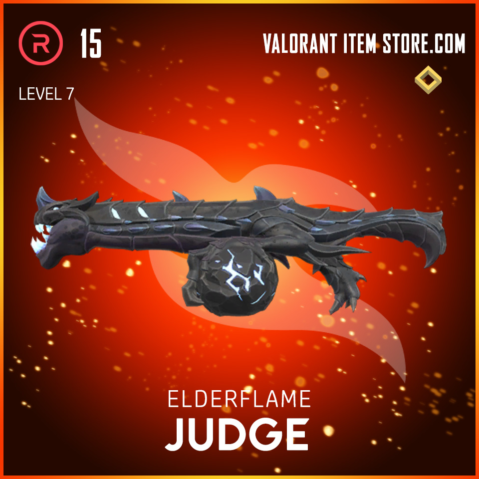 Elderflame Judge Level 7 Valorant skin