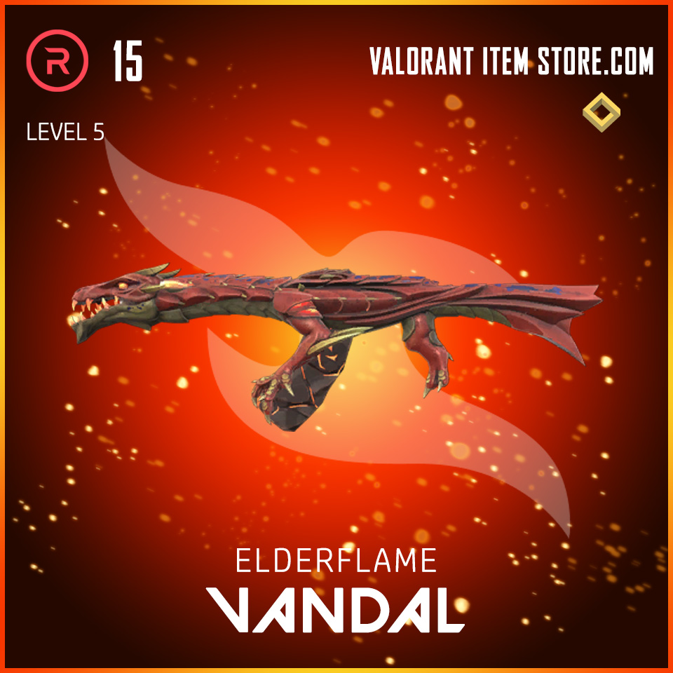 Elderflame Vandal Level 5 Valorant skin