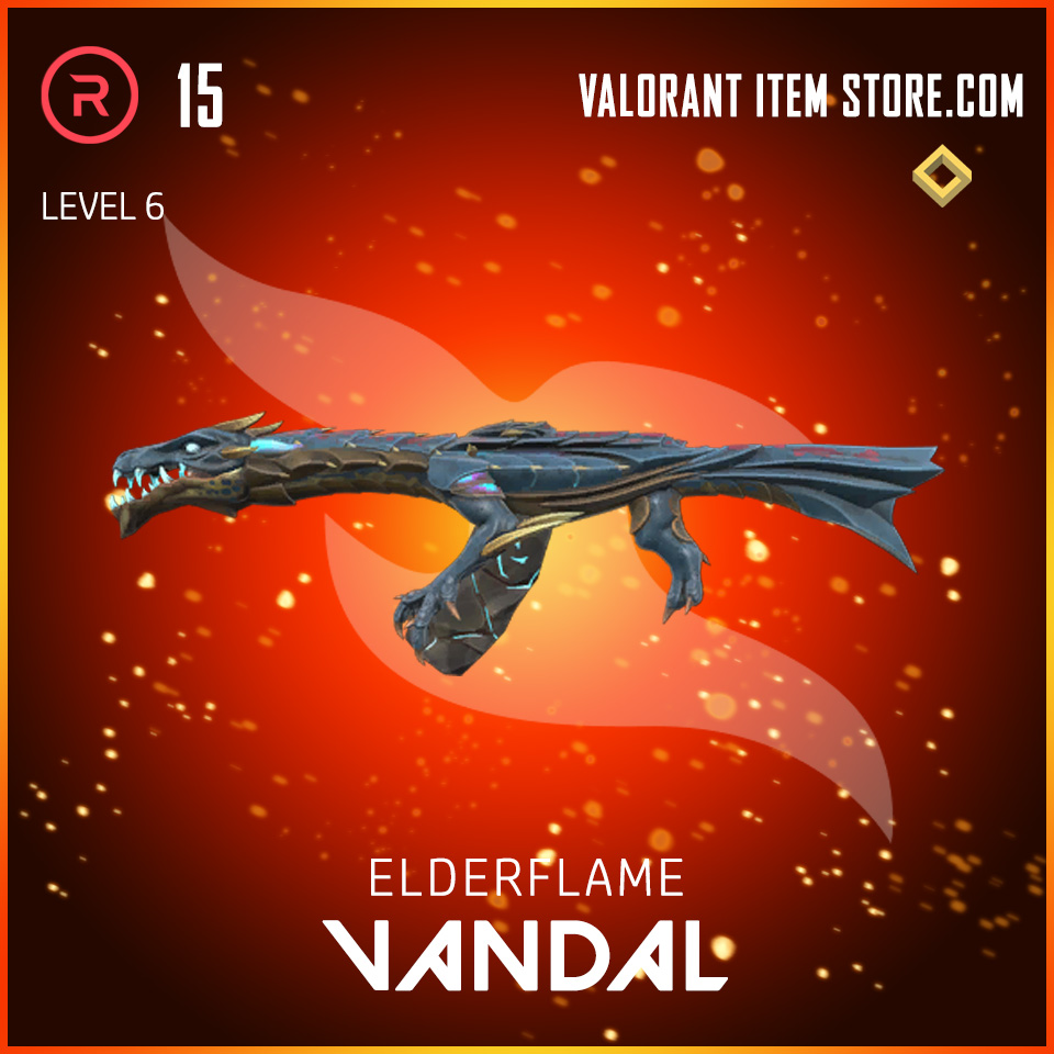 Elderflame Vandal Level 6 Valorant skin