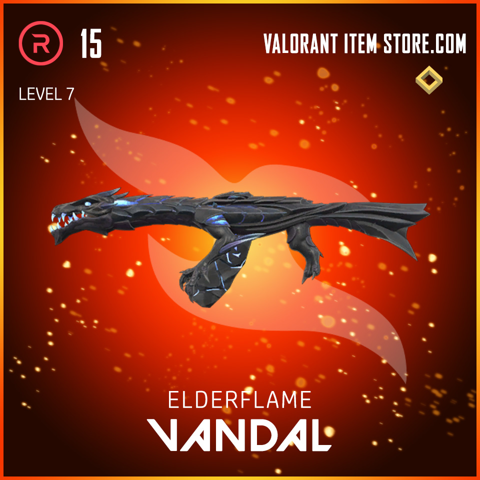 Elderflame Vandal Level 7 Valorant skin