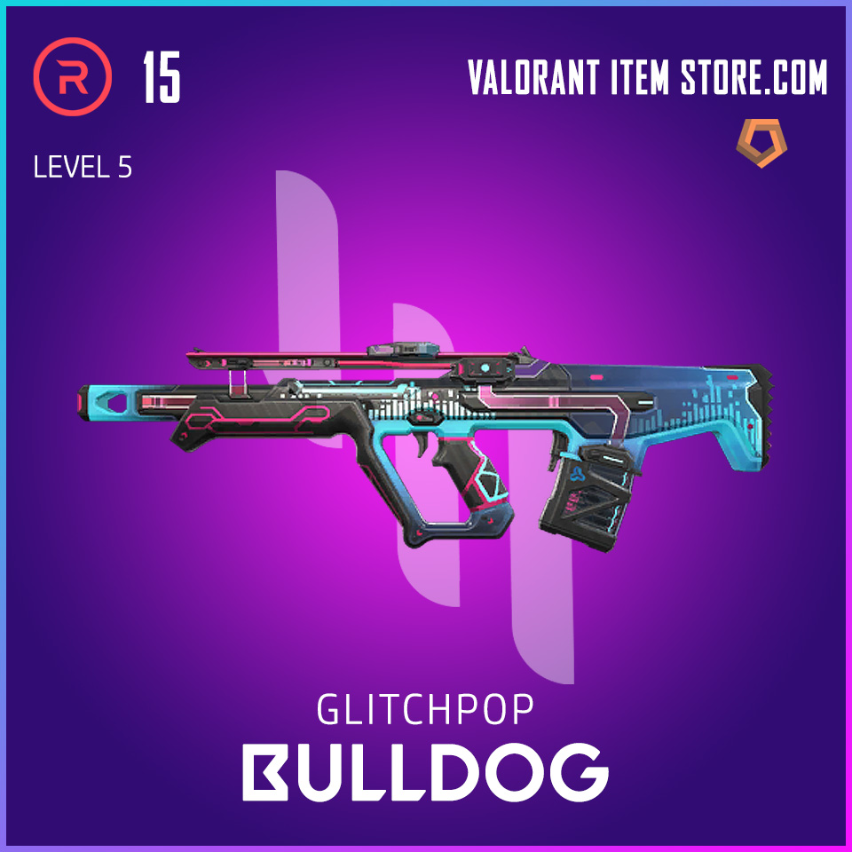 Glitchpop Bulldog Level 5 Valorant Skin