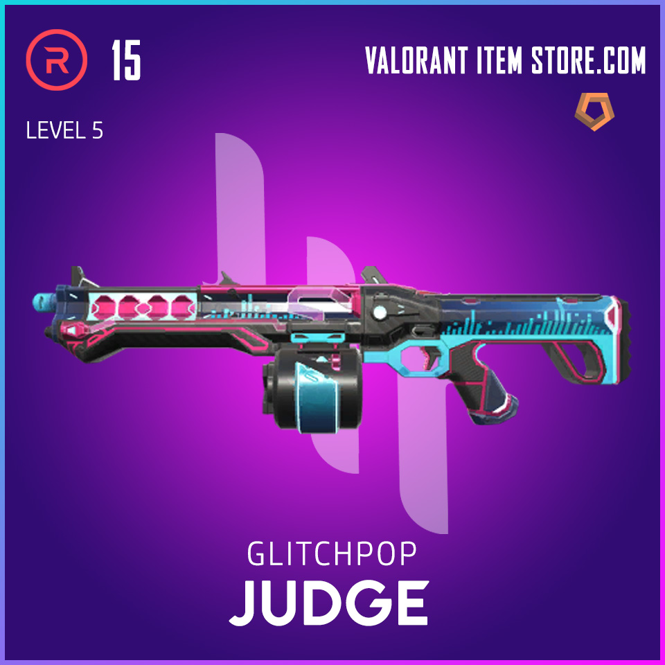 Glitchpop Judge Level 5 Valorant Skin