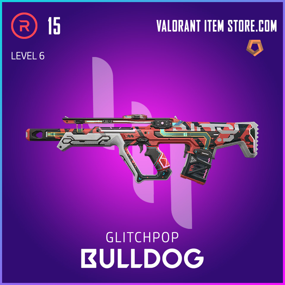 Glitchpop Bulldog Level 6 Valorant Skin