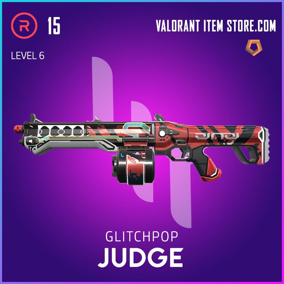 Glitchpop Judge Level 6 Valorant Skin