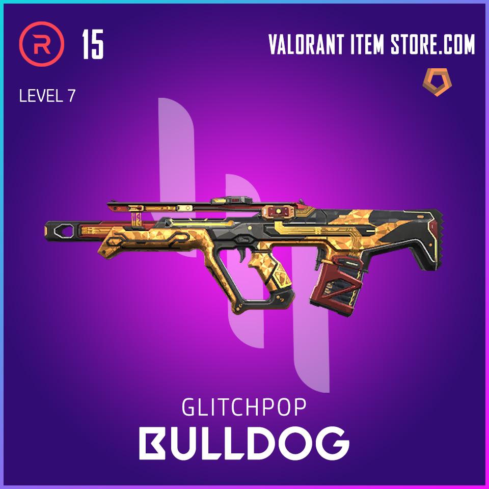 Glitchpop Bulldog Level 7 Valorant Skin