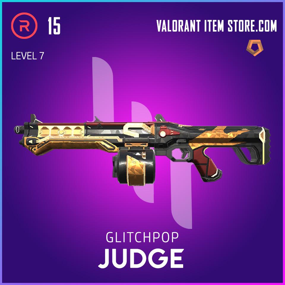 Glitchpop Judge Level 7 Valorant Skin