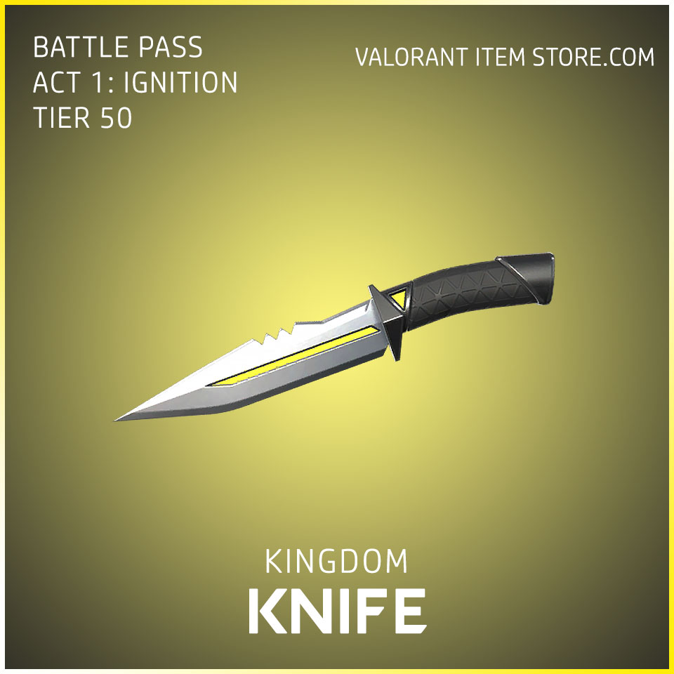 Kingdom Knife Act 1 Ignition Tier 50 Valorant Skin