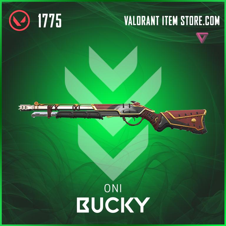 Oni Bucky valorant skin