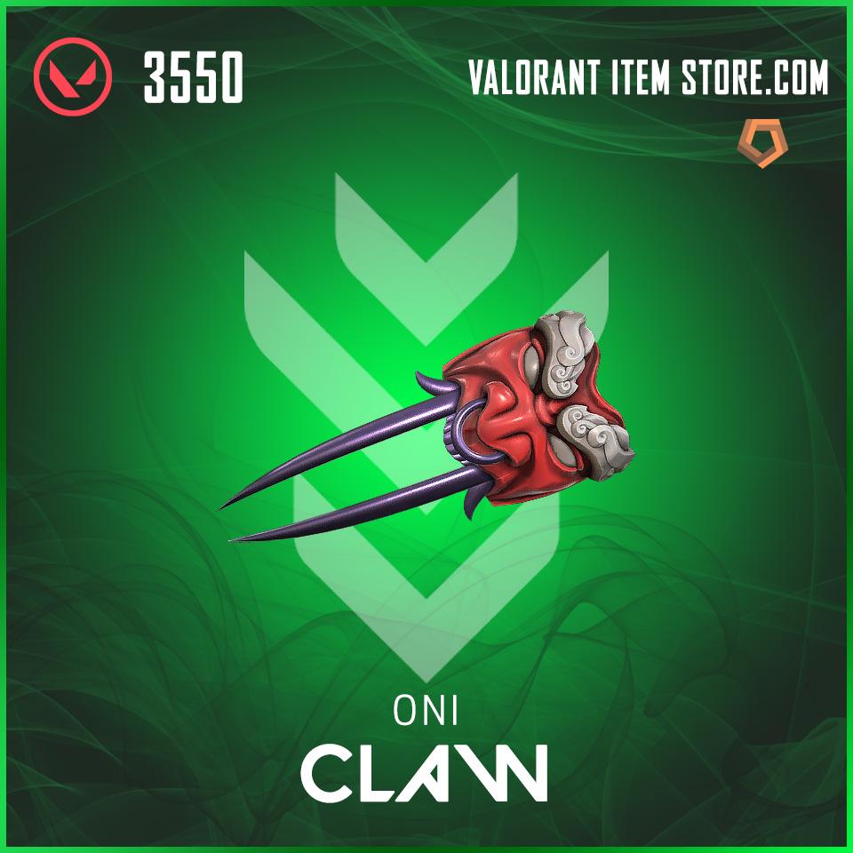 Oni Claw valorant skin