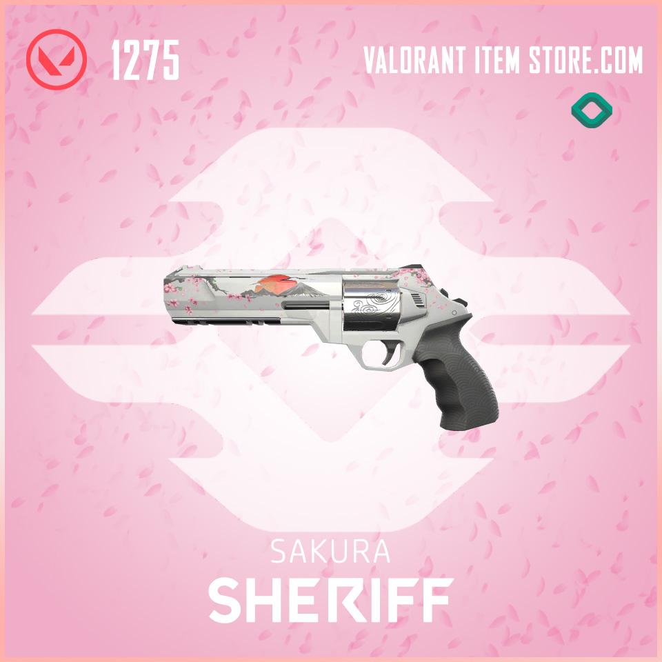 Sakura Sheriff Valorant Skin