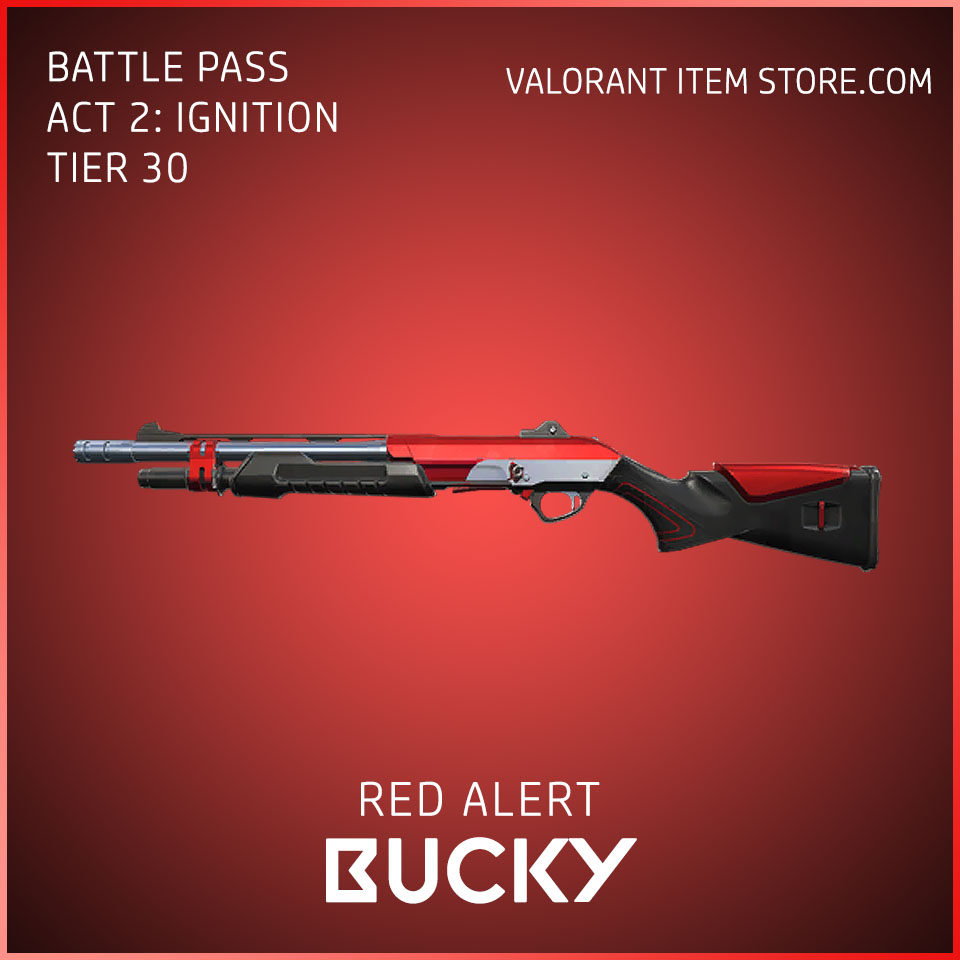 Red Alert Bucky Act 2 Ignition Tier 30 Valorant Skin