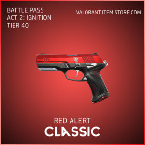 Red Alert Classic Act 2 Ignition Tier 40 Valorant Skin