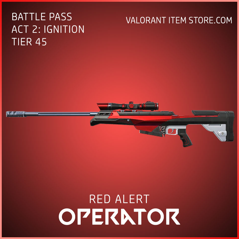 Red Alert Operator Act 2 Ignition Tier 45 Valorant Skin