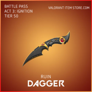 Ruin Dagger Act 3 Ignition Tier 50 Valorant Skin