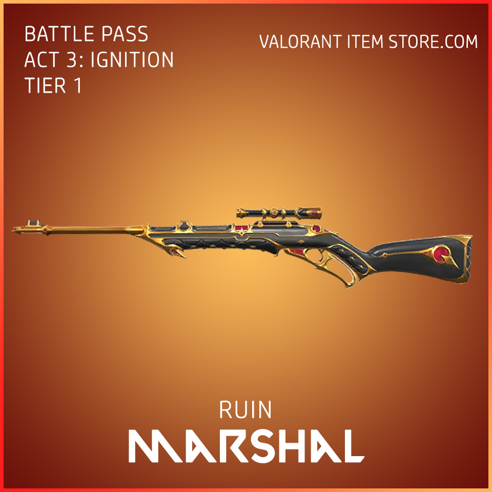 Ruin Marshal Act 3 Ignition Tier 1 Valorant Skin