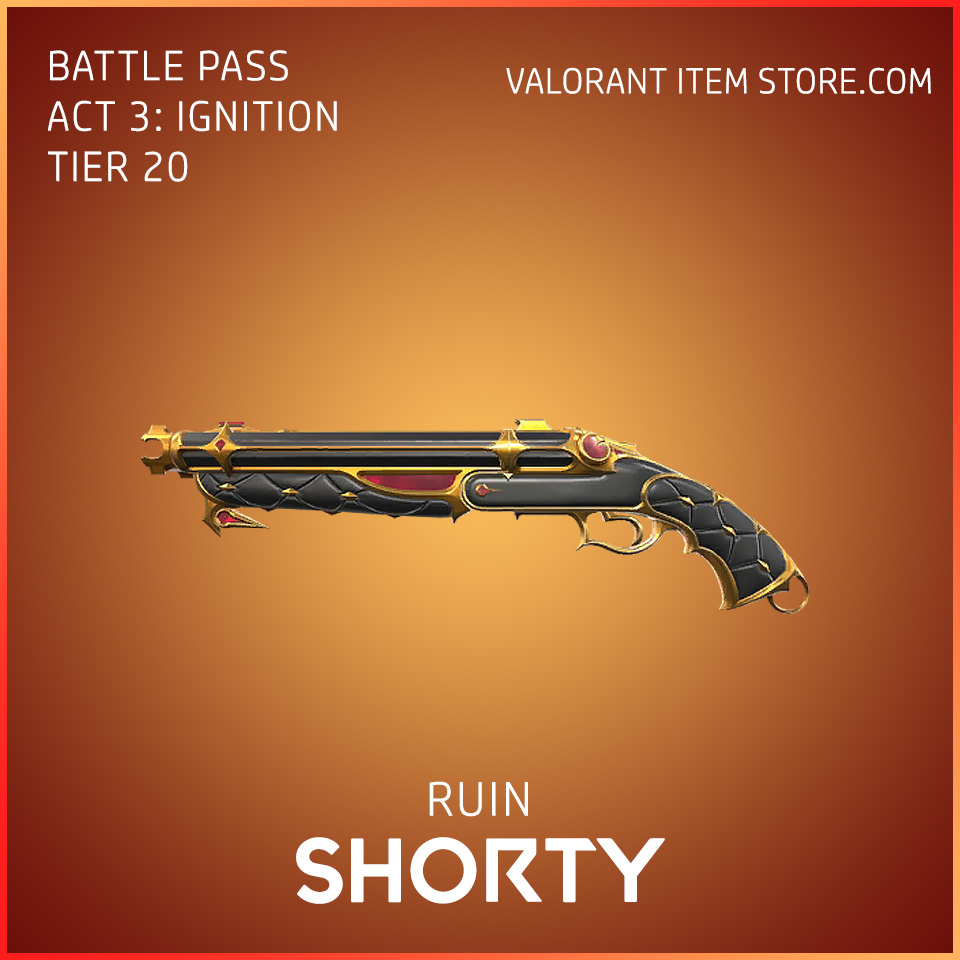 Ruin Shorty Act 3 Ignition Tier 20 Valorant Skin