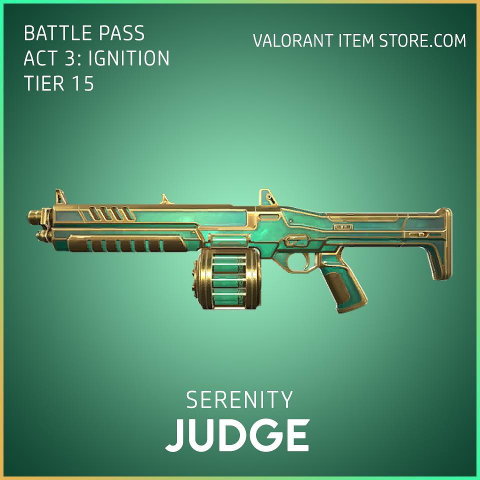 Serenity Judge Act 3 Ignition Tier 15 Valorant Skin