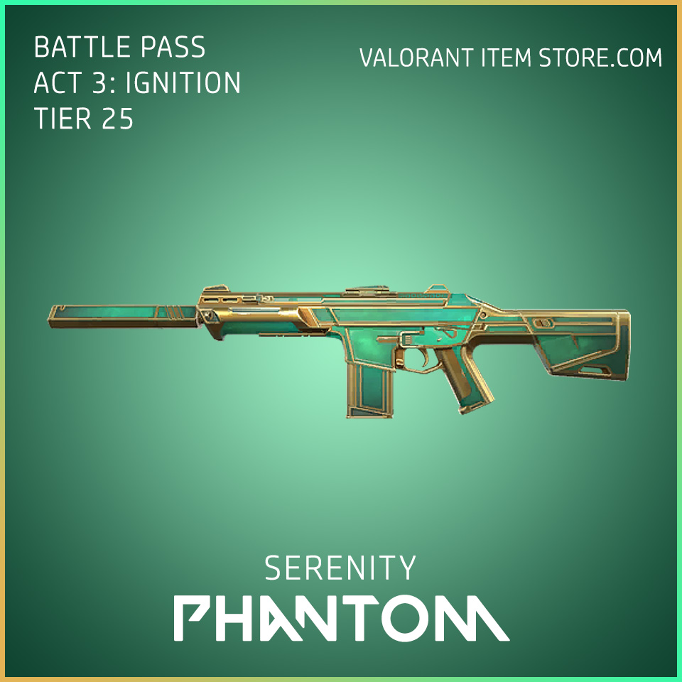Serenity Phantom Act 3 Ignition Tier 25 Valorant Skin
