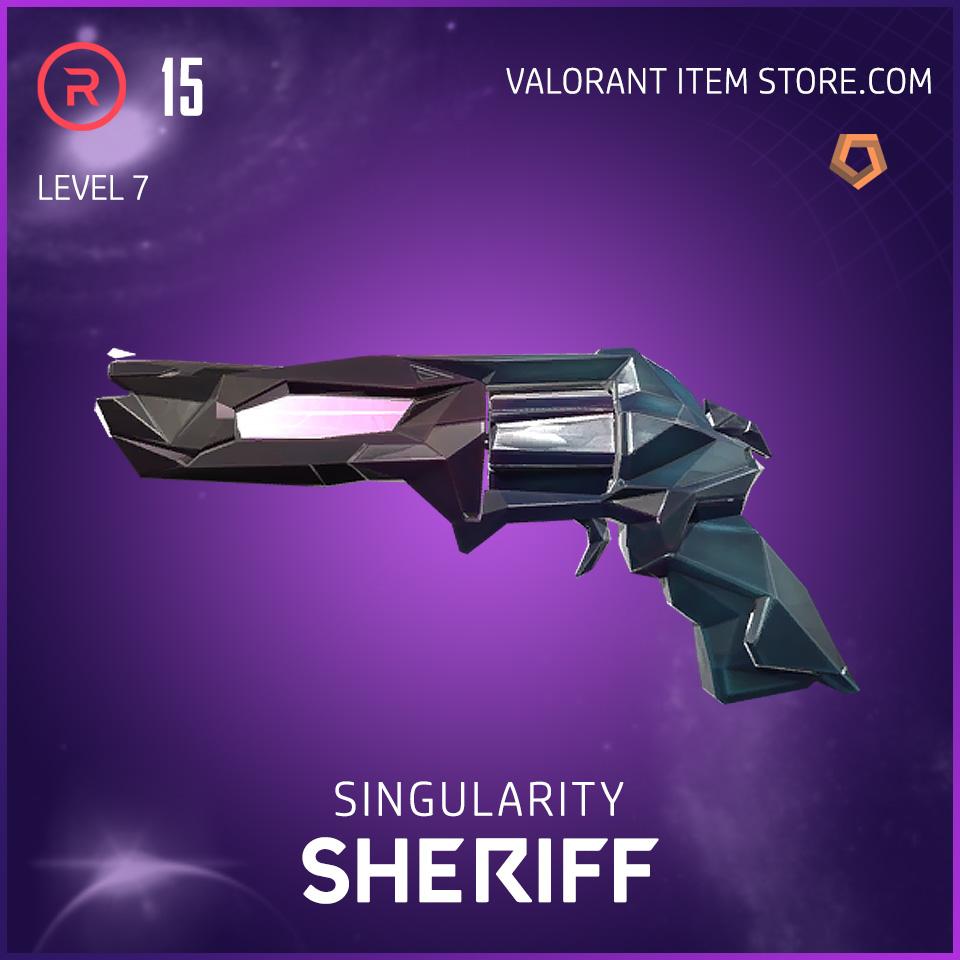 Singularity Sheriff Level 7 Valorant Skin