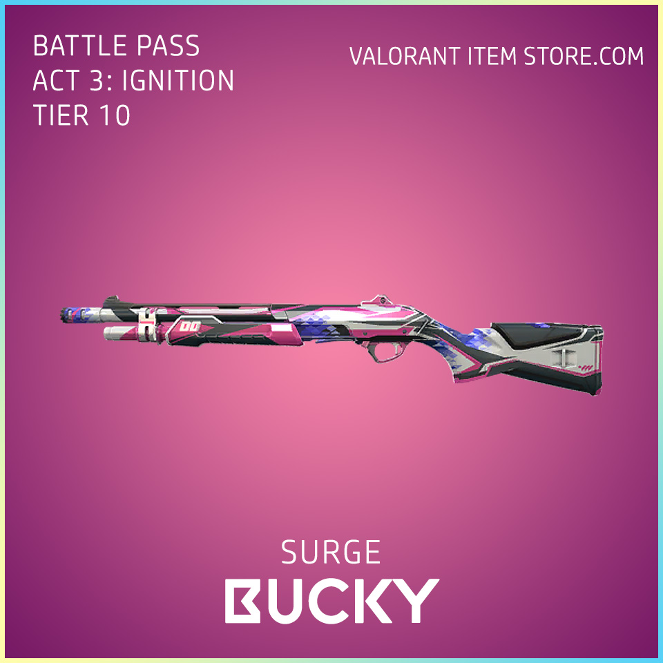 Surge Bucky Act 3 Ignition Tier 10 Valorant Skin
