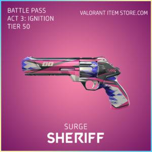 Surge Sheriff Act 3 Ignition Tier 50 Valorant Skin