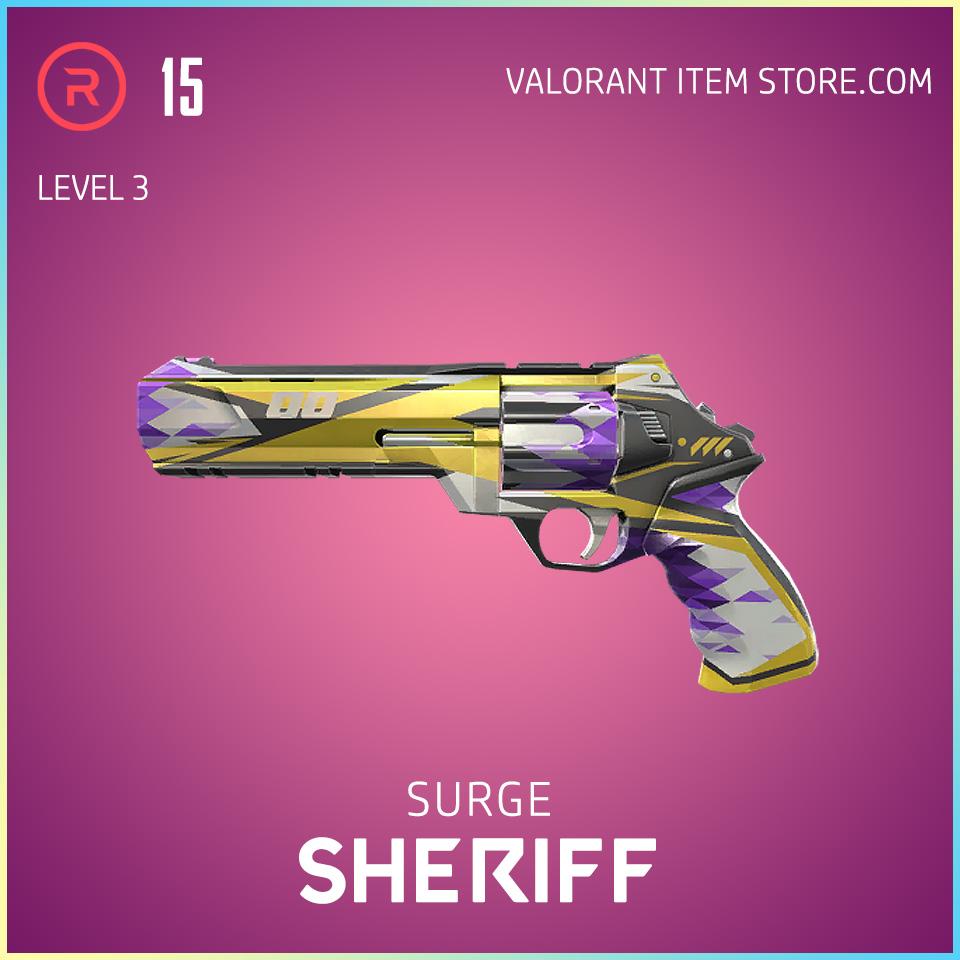 Surge Sheriff Level 3 Valorant Skin