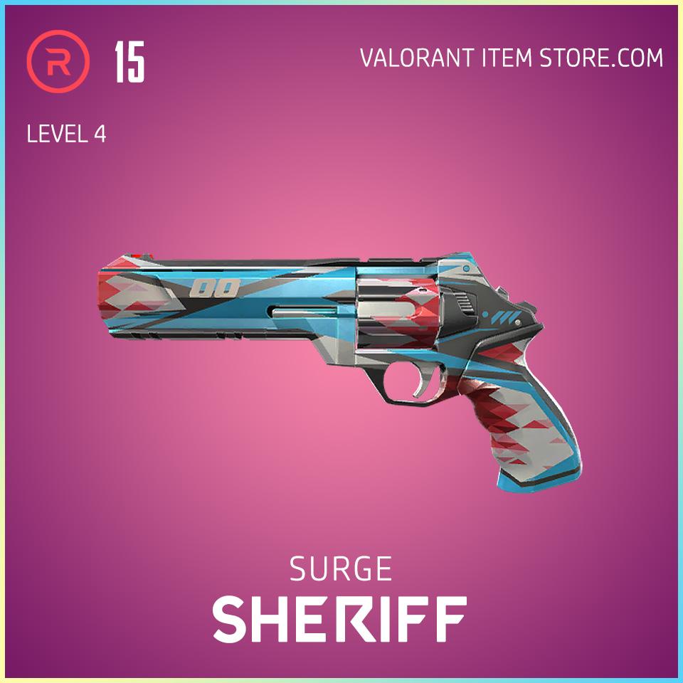 Surge Sheriff Level 4 Valorant Skin