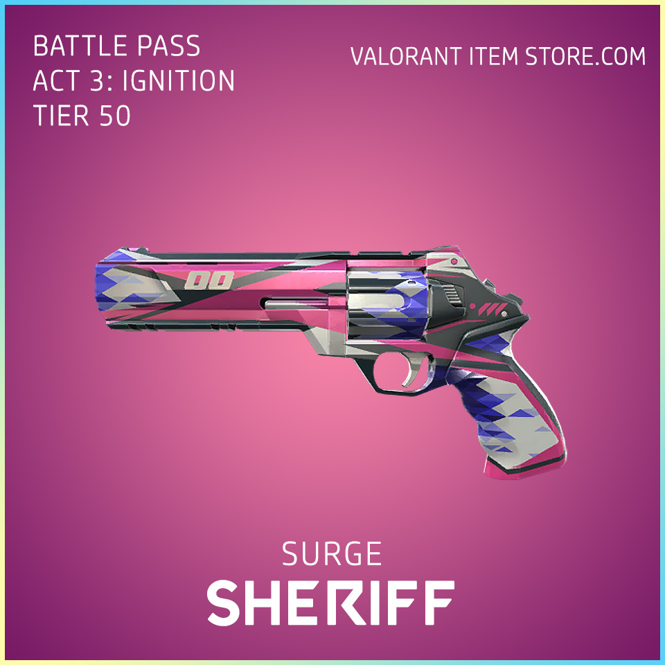 Surge Sheriff Act 3 Ignition Tier 50 Valorant Skin