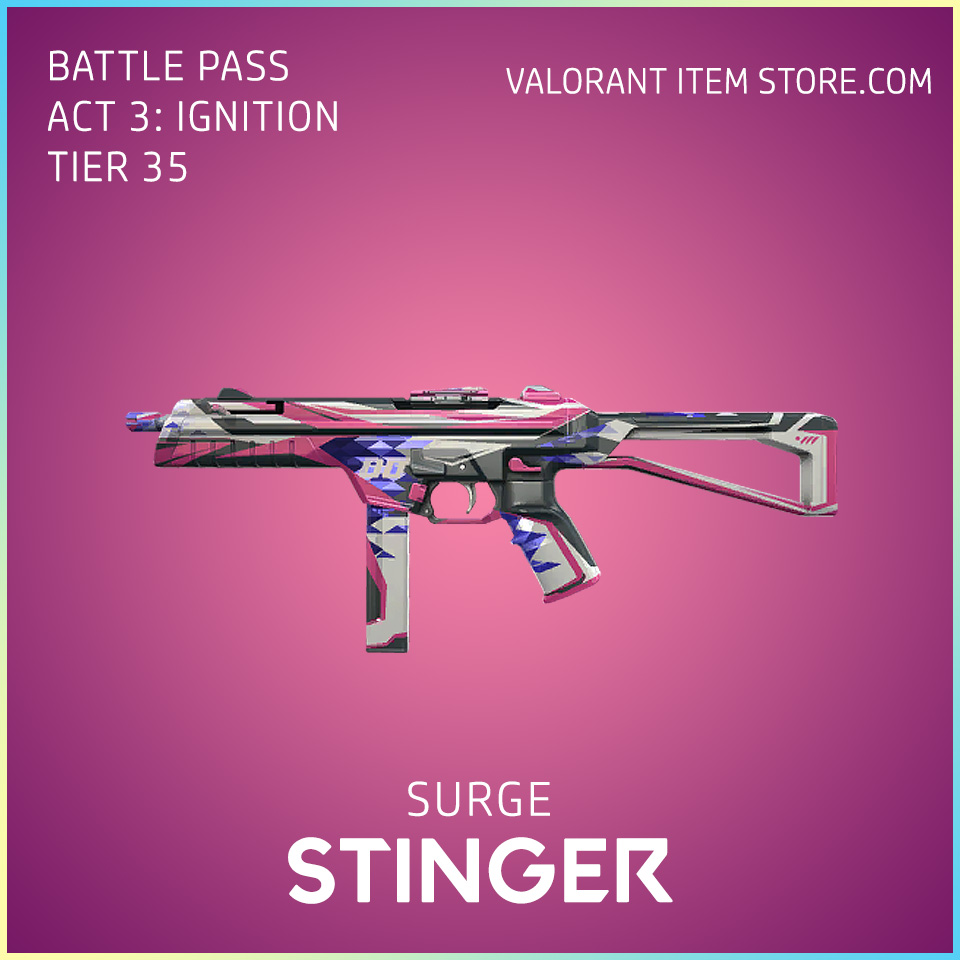 Surge Stinger Act 3 Ignition Tier 35 Valorant Skin