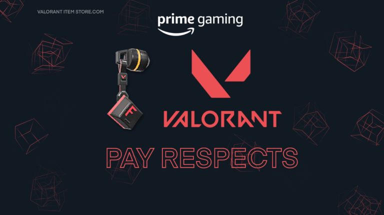 "Claim Valorant Exclusive Gun Buddy ""Pay Respects"" With Twitch Prime"
