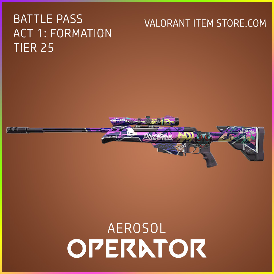 aerosol operator valorant skin battle pass