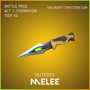 outpost melee valorant skin battle pass
