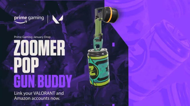 "Claim Valorant Exclusive Gun Buddy ""Zoomer Pop"" With Prime Gaming"