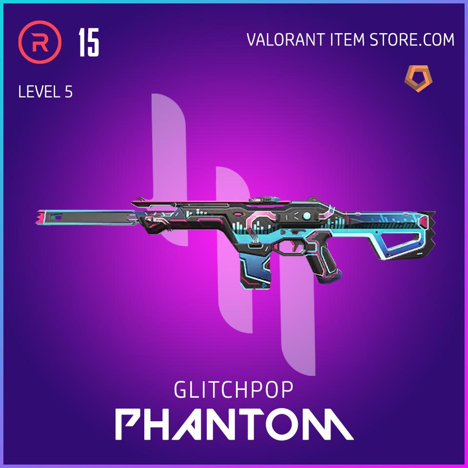 Glitchpop Ep 2 Phantom Valorant Skin Lvl 5