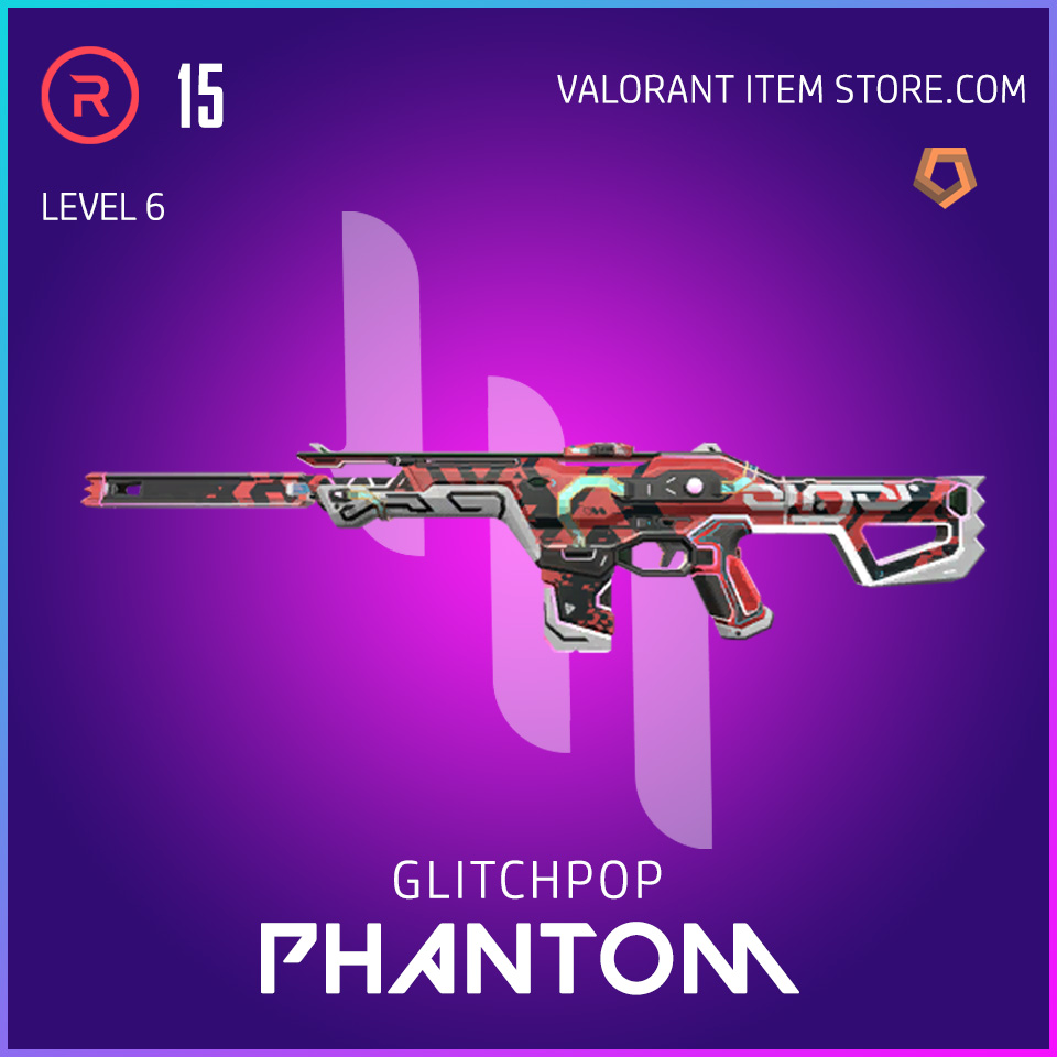 Glitchpop Ep 2 Phantom Valorant Skin Lvl 6