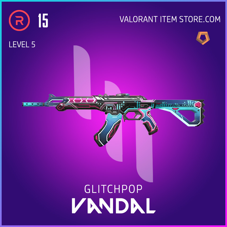 Glitchpop Ep 2 Vandal Valorant Skin Lvl 5