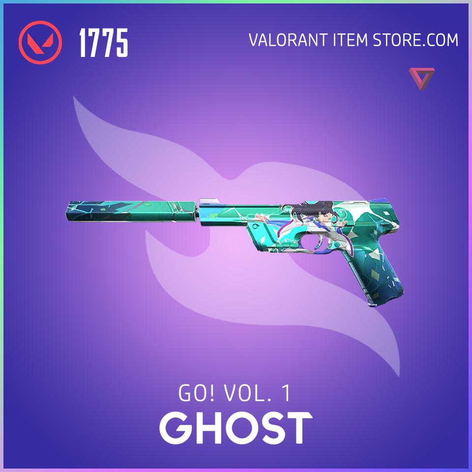 go! Volume 1 ghost valorant anime skin