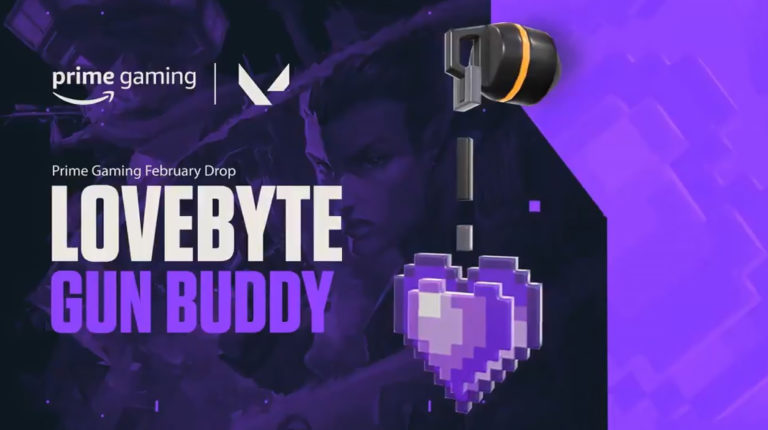 "Claim Valorant Exclusive Gun Buddy ""Lovebyte"" With Prime Gaming"