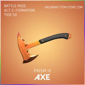 Prism 3 III Axe valorant skin battle pass