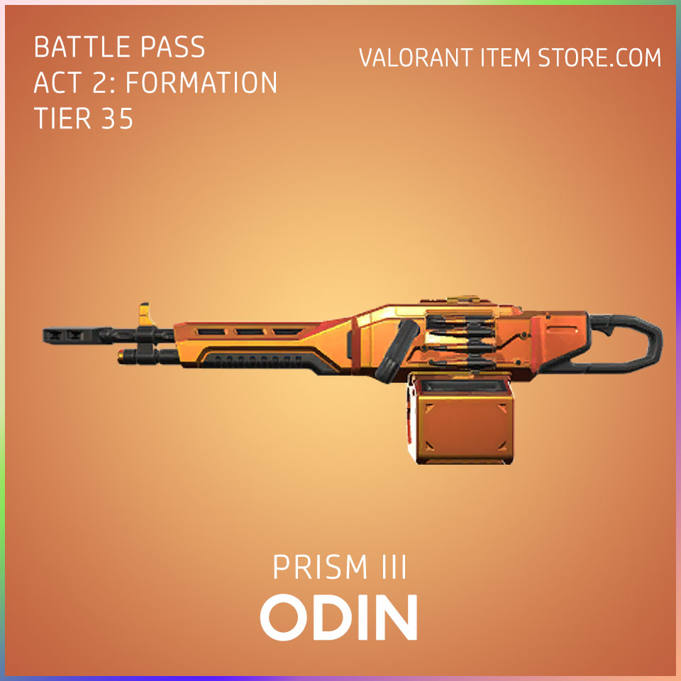 Prism 3 III Odin valorant skin battle pass