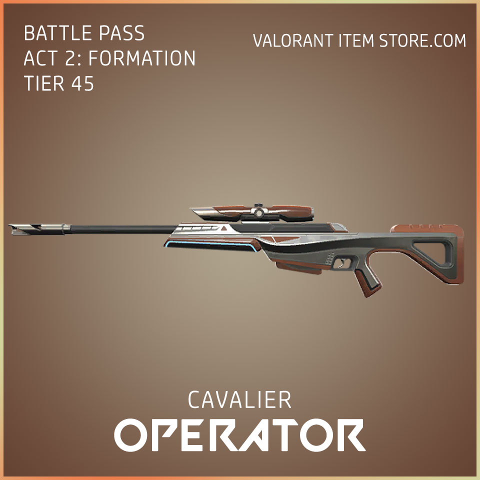 cavalier operator valorant skin battle pass