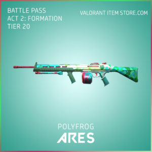 polyfrog ares valorant skin battle pass