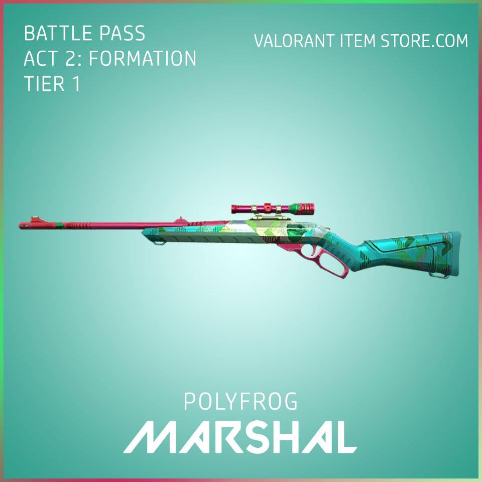 polyfrog marshal valorant skin battle pass