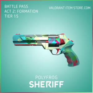 polyfrog sheriff valorant skin battle pass