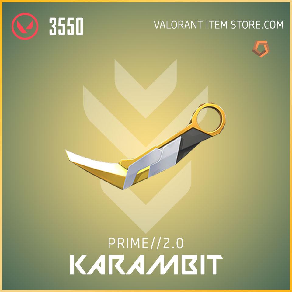 prime 2.0 karambit melee valorant skin