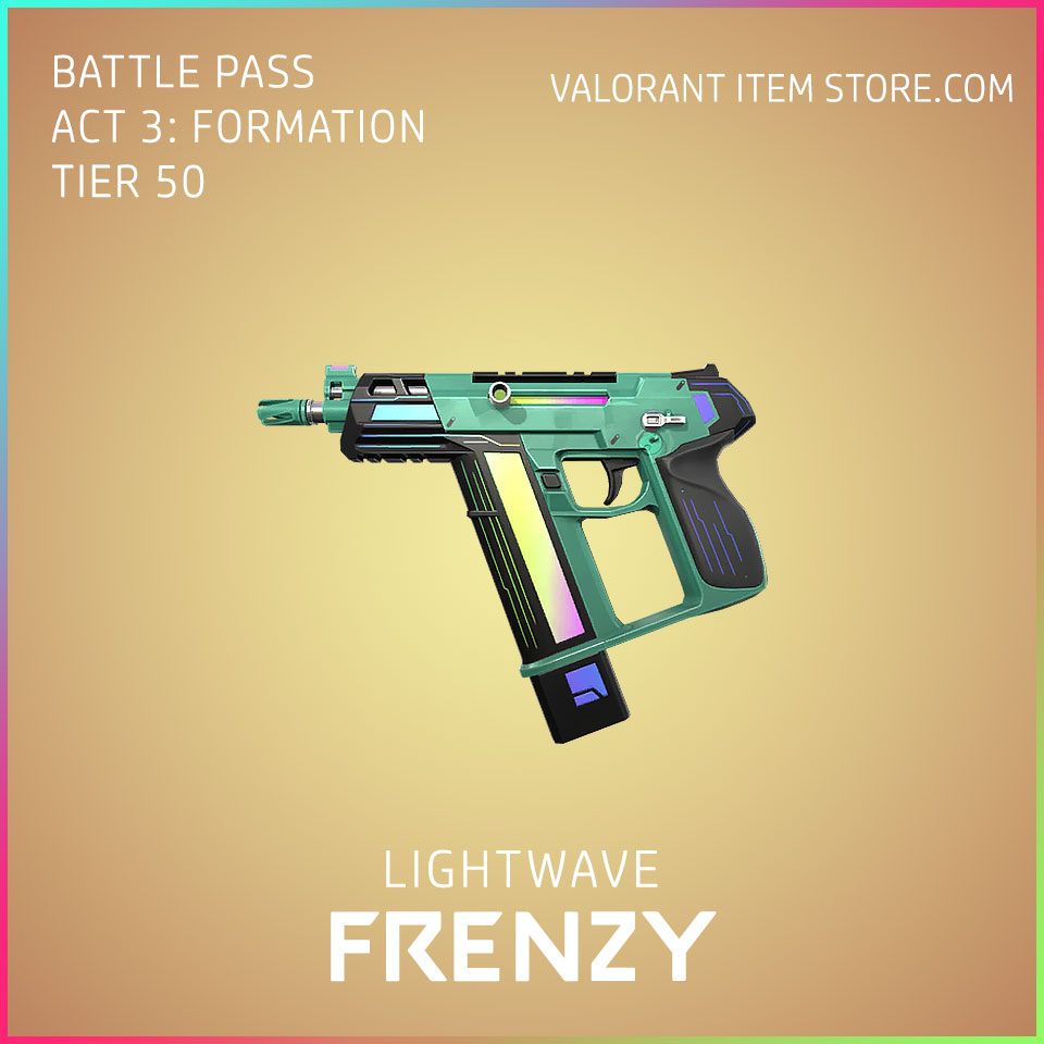Lightwave Frenzy Valorant Skin Act 3 Formation