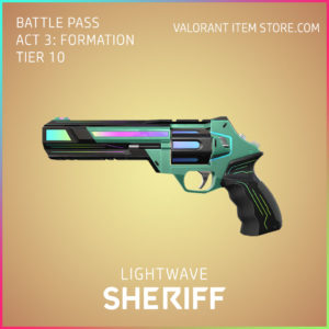 Lightwave Sheriff Valorant Skin Act 3 Formation